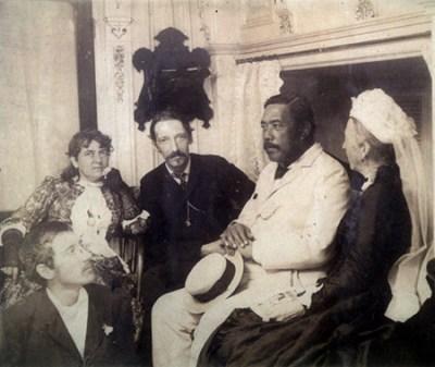 Robert Louis Stevenson and David Kalakaua