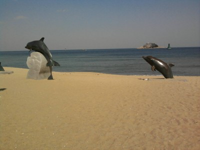 Sculptures on the Beach in South Korea