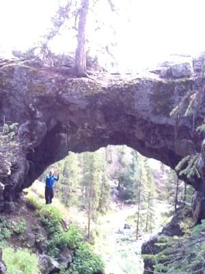 Yellowstone natural bridge