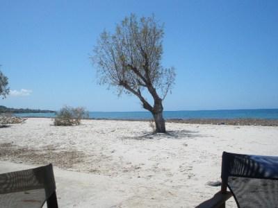 Deserted beach on Kos