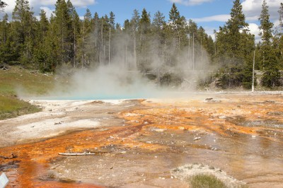 the geothermal heat at Yellowstone