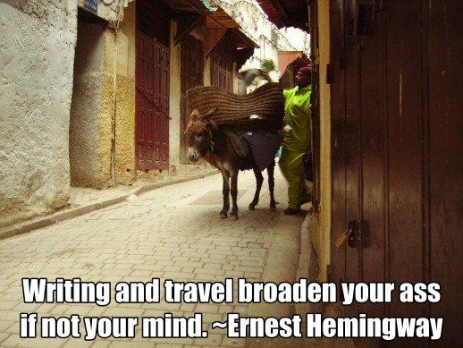 Ernest Hemingway travel quote