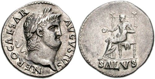 Silver denarius bearing the portrait of Emperor Nero Classical Numismatic Group, Inc. http://www.cngcoins.com [GFDL (http://www.gnu.org/copyleft/fdl.html) or CC BY-SA 2.5 (http://creativecommons.org/licenses/by-sa/2.5)], via Wikimedia Commons