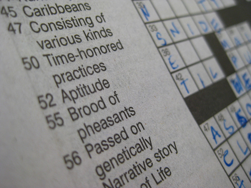 The innocent crossword puzzle. Or is it? By yoohoojuju (click for details)