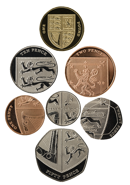 The Royal Shield reverse designs, introduced in 2008