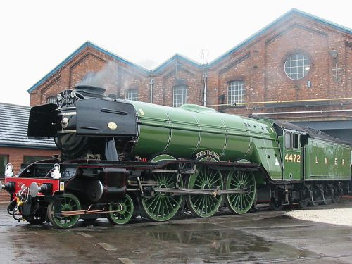 The Flying Scotsman at Doncaster's railway works