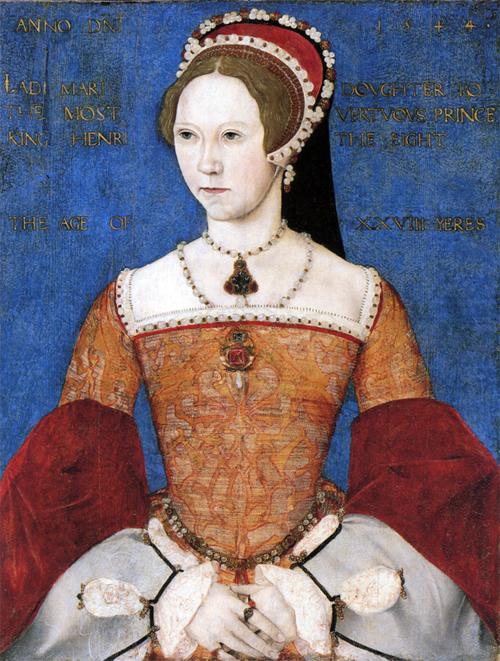Mary I (Mary Tudor) by Master John By Master John (floruit 1544-1545) [Public domain], via Wikimedia Commons