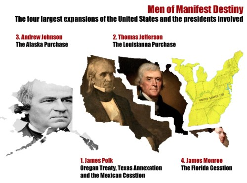 Expansion of the United States using the faces of the four main contributors to expansion (own work)
