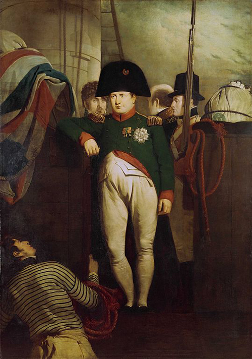 Napoleon on the deck of HMS Bellerophon Charles Lock Eastlake [Public domain], via Wikimedia Commons http://commons.wikimedia.org/wiki/File%3AEastlake_-_Napoleon_on_the_Bellerophon.jpg