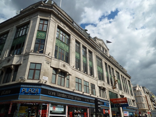Bourne & Hollingworth's building on Oxford Street - now the Plaza Shopping Centre