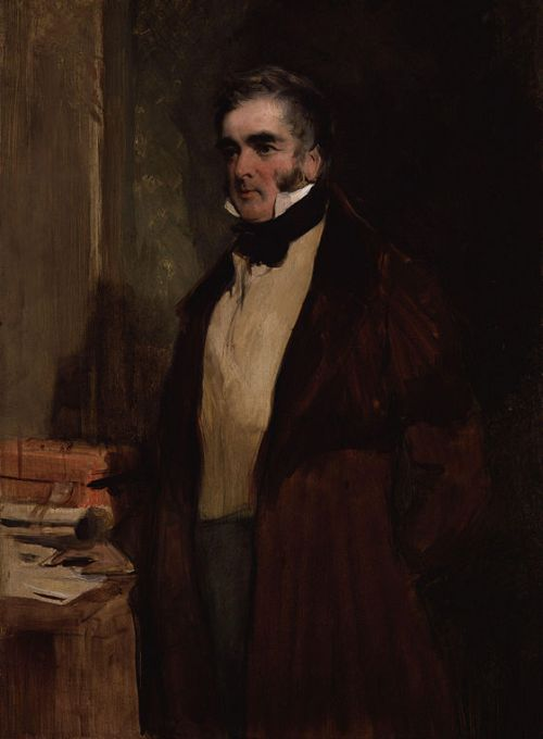 William Lamb, 2nd Viscount Melbourne, by Sir Edwin Henry Landseer (died 1873). See source website for additional information.