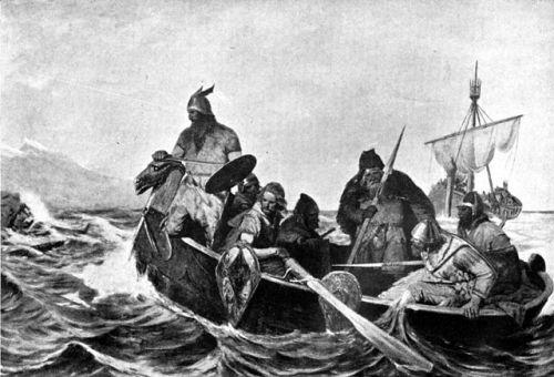 Norsemen making a landing