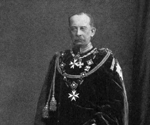 Alfred Graf von Schlieffen in the robes of the Order of the Black Eagle
