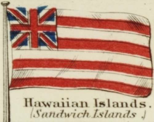 Hawaiian Islands Johnson's new chart of national emblems, 1868 2
