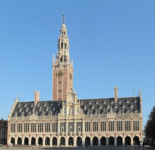 Leuven, Universitieisbibliotheek (University Library) By Michielverbeek (Own work) [CC-BY-SA-3.0 (http://creativecommons.org/licenses/by-sa/3.0)], via Wikimedia Commons