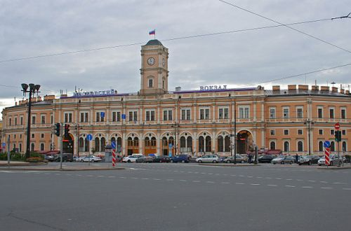 The Moskovskiy rail terminal in Saint Petersburg