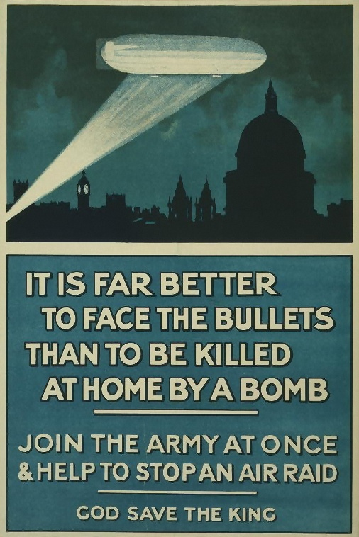 Propaganda poster on the air war By Publicity Department, Central Recruiting Depot [Public domain or Public domain], via Wikimedia Commons