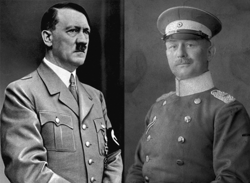 Adolf Hitler and Paul von Lettow-Vorbeck