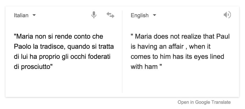 Maria non si rende conto che Paolo la tradisce, quando si tratta di lui ha proprio gli occhi foderati di prosciutto