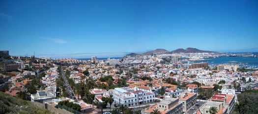 Panoramic view over the city of Las Palmas de Gran Canaria (Gran Canaria). Canary Islands, Spain by Matti Mattila