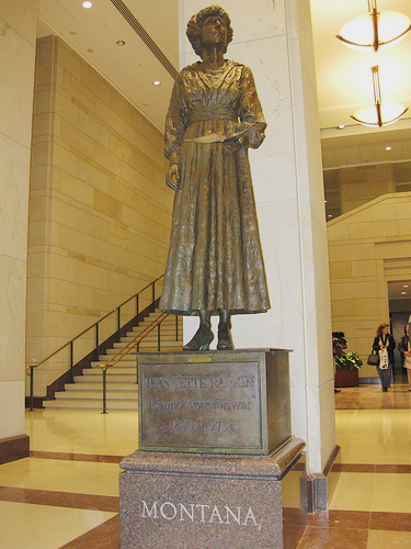 Statue of Jeannette Rankin in the National Statuary Hall Collection