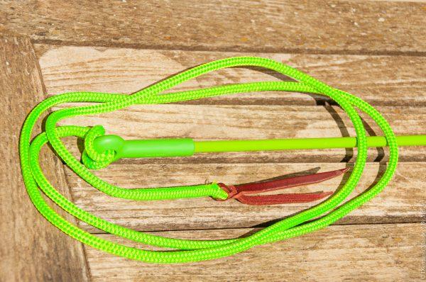 Stick pop vert néon et cordelette néon