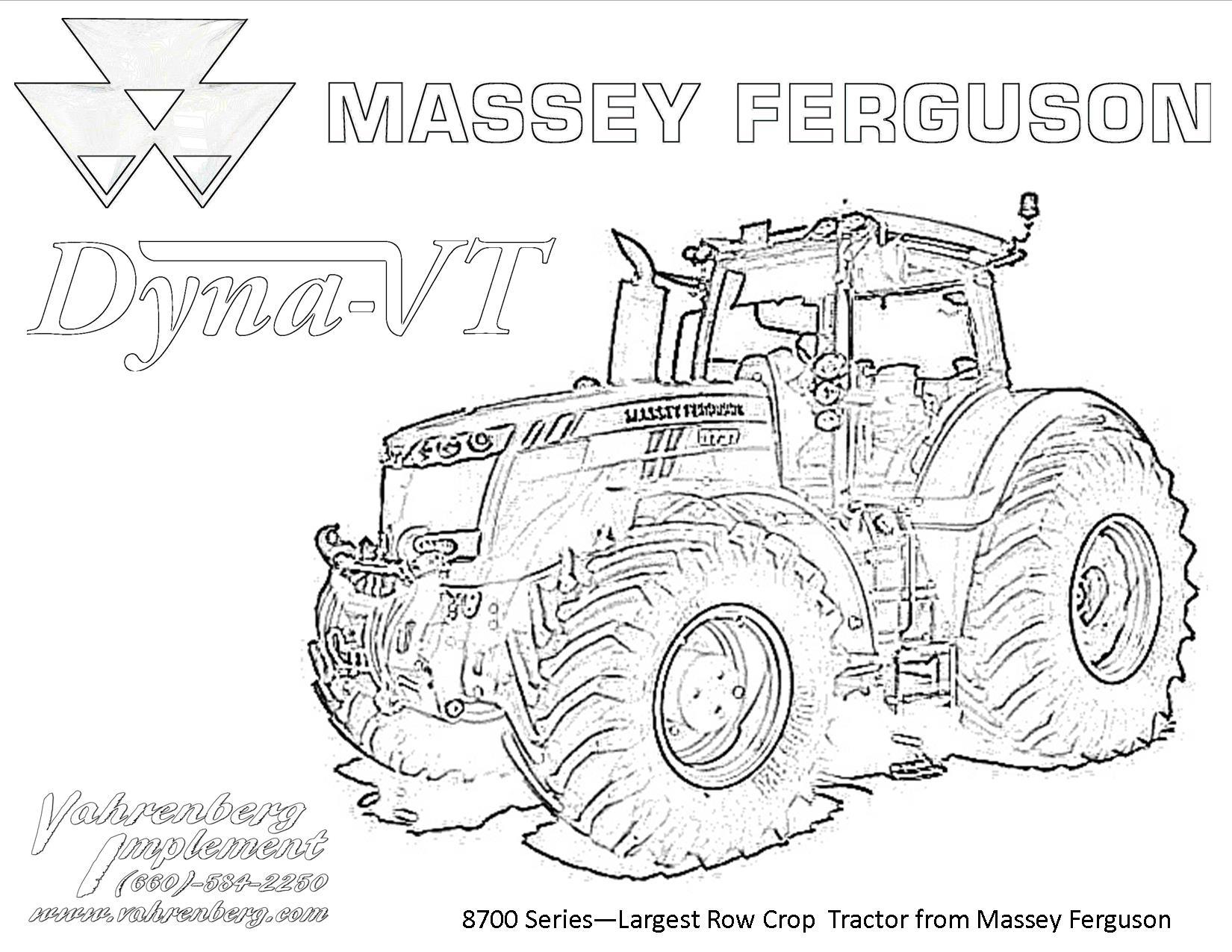 Kids Corner: Coloring Page Massey Ferguson 8700 Series