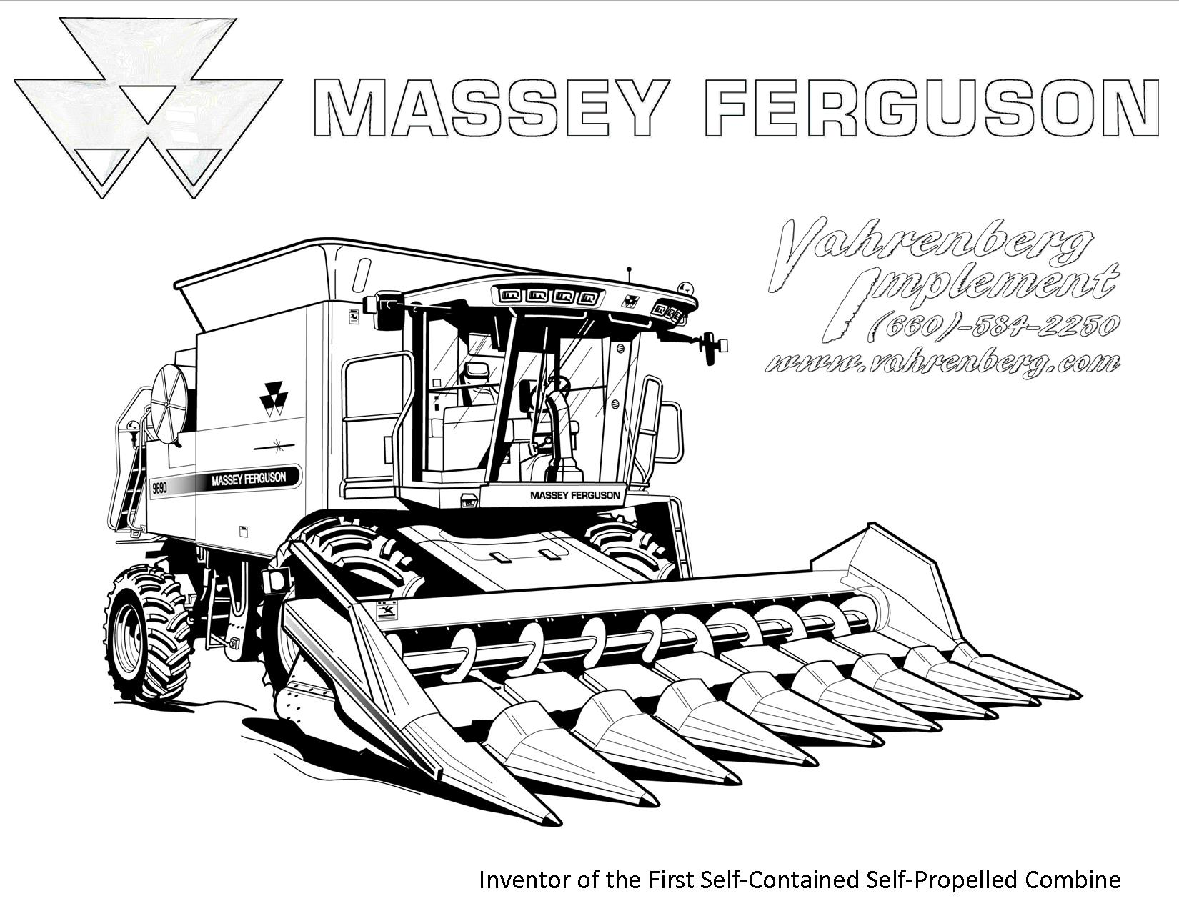 Massey Ferguson Coloring Pages Coloring Pages