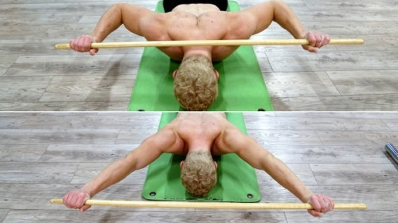 prone press for shoulder mobility