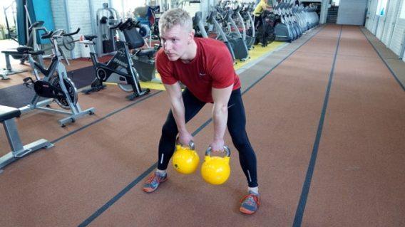 double kettlebell swing workout