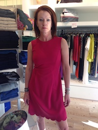 Fall fuscia dress