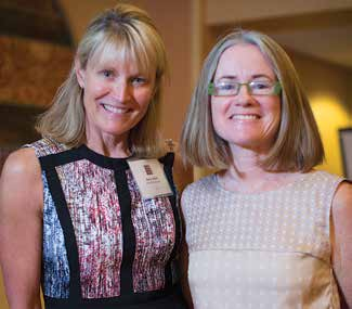 2014 WOW! Awardee (Women's Oustanding Work Award) Cheryl Jensen and featured author Helen Thorpe.