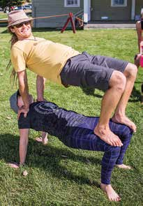 2. Yoga acrobatics, easier than it looks!