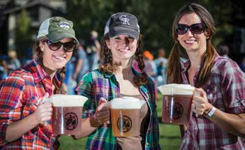 2. Erin McTigue, Shelly Watson and Amanda Slater enjoying Bonfire Brewing Companies Beer.