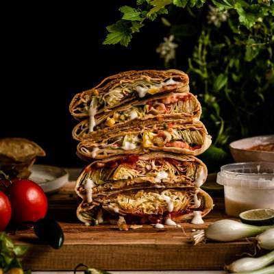 Kotikeittiön vegaaninen crunchwrap supreme