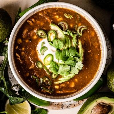 Vihreä chili, chile verde -tyyliin