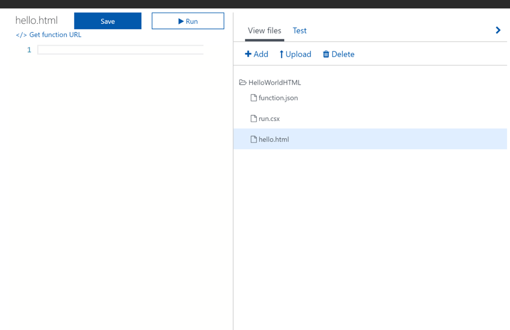 Azure Functions – Part 2: Serving HTML Pages with Azure