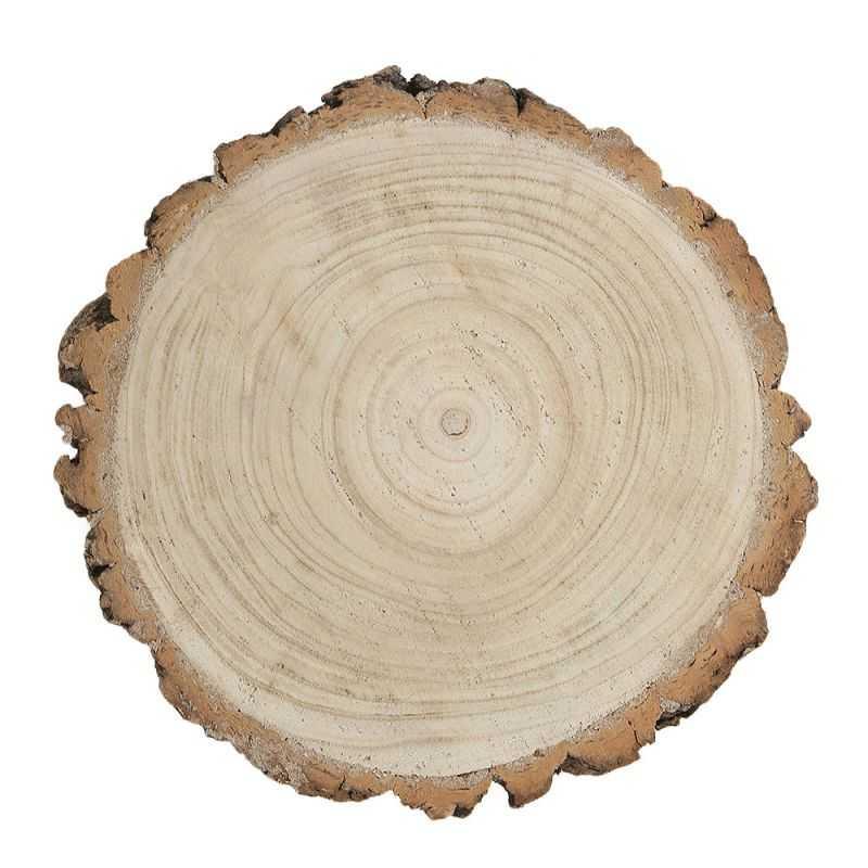 rondin en bois naturel massif centre de table 26cm x 4 cm