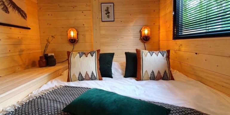 Tiny House 4 personen vakantie droompark Maasduinen Limburg
