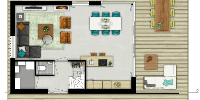 Luxe stijlvolle 6-persoons vakantiehuis, Ridderstee Ouddorp Duin 02