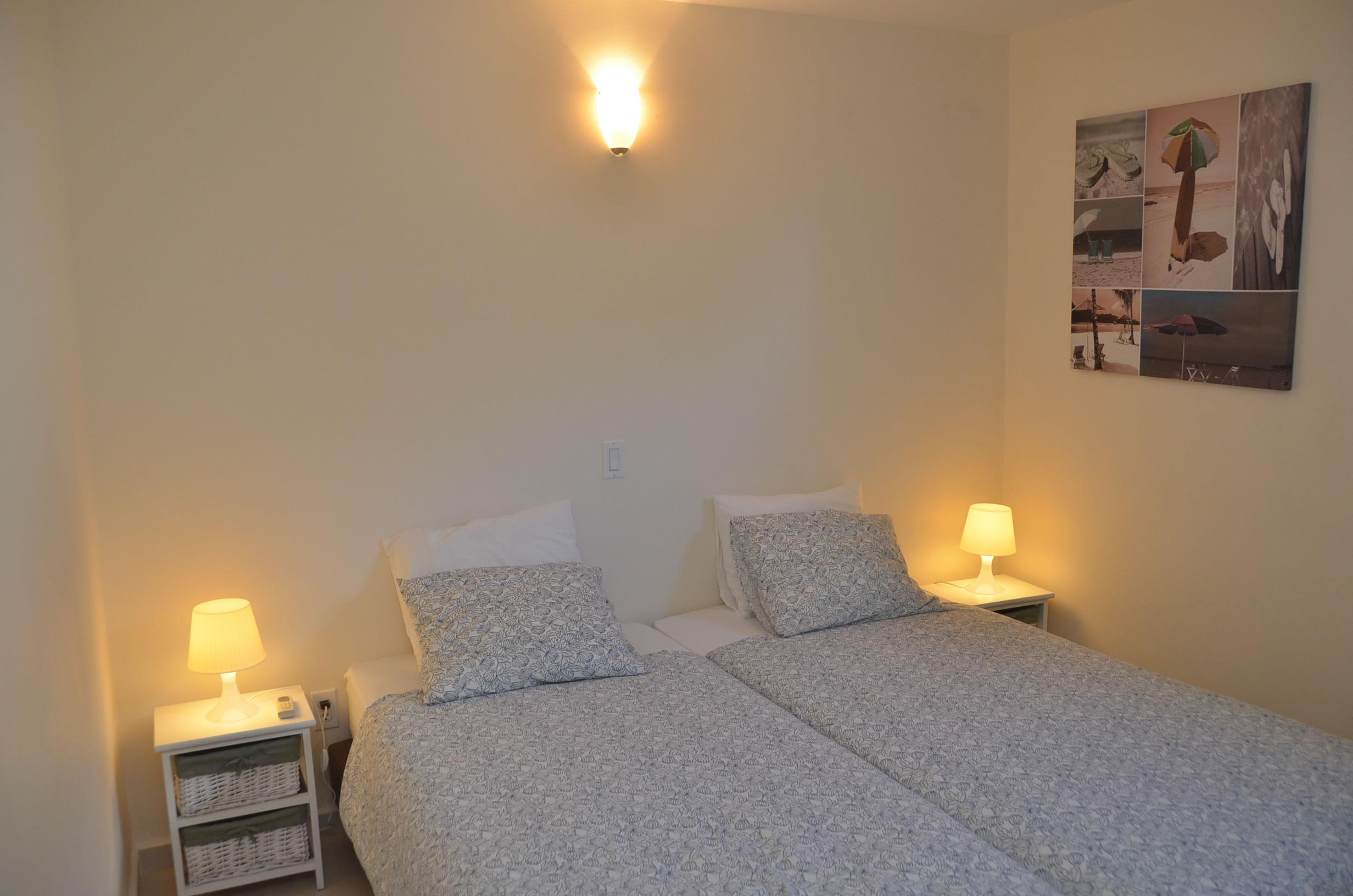 twee persoons slaapkamer in het vakantie appartement Kas Bon Bida