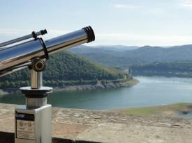 Uitzicht over de Edersee vanaf Slot Waldeck