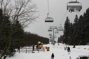 Wintersporten bij Winterberg.