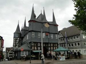 Raadhuis in Frankenberg in de de oude bovenstad