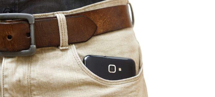 mobil i ficka