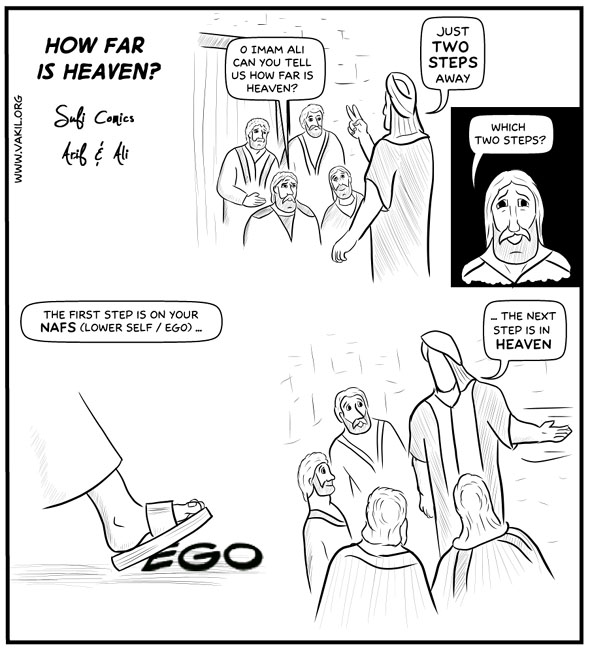 Sufi Comics How far is Heaven?