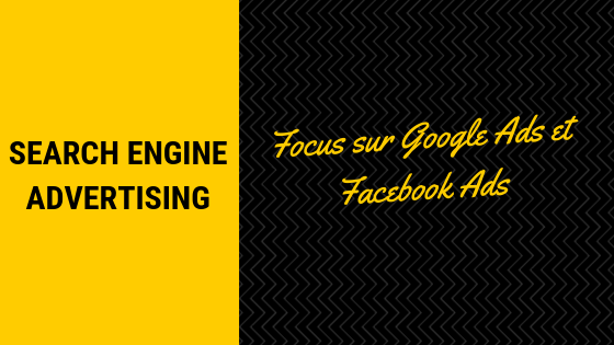 illustration SEA focus sur Google Ads et Facebook Ads