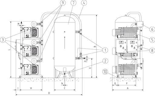 CPA TRIPLEX EN 737/3 MEDICINSK vakuumanlæg