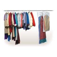 Vakuumbeutel fr Kleider - mit Haken fr den Kleiderschrank
