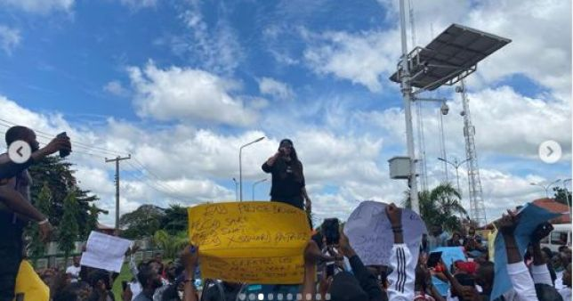 Actress, Angela Okorie Leads #endpolicebrutality Protest In Ebonyi (Photos)